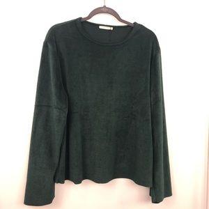 Zara Green Soft Long Sleeve Pullover Sweater NWT